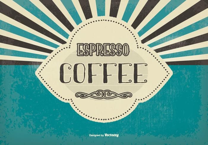 Vintage Espresso Coffee Background