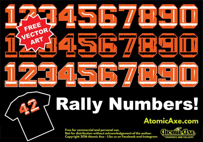 Rally Numbers Vektoren