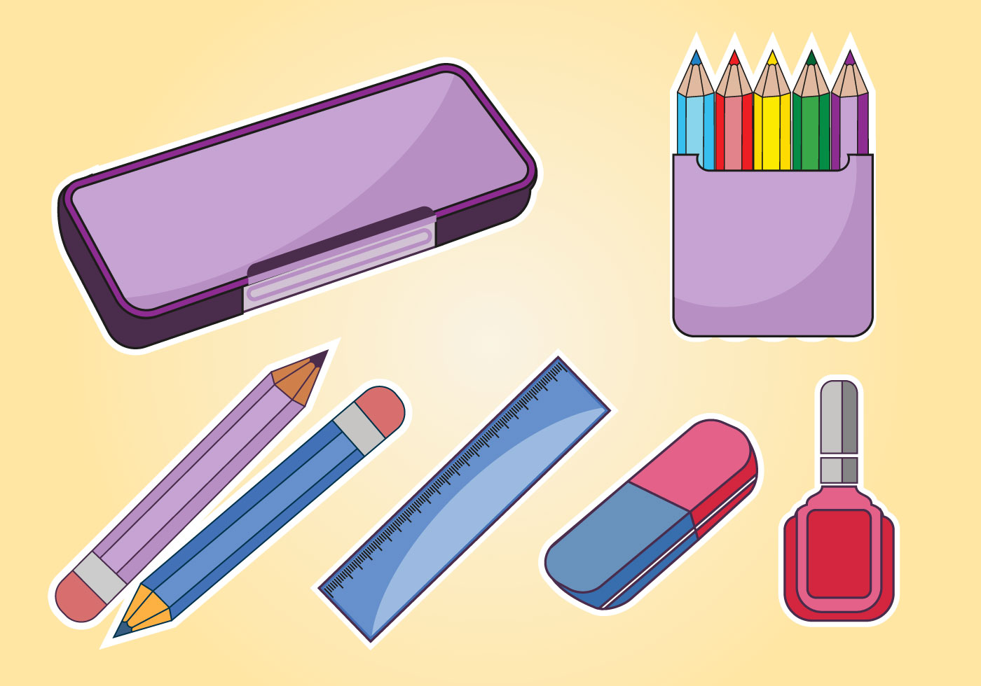 Notebook And Pen Sketch Stock Vector Art More Images Of: Student Pencil Case Vector