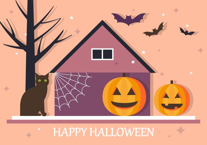 Happy halloween house vector background download free vector art happy halloween house vector background stopboris Gallery