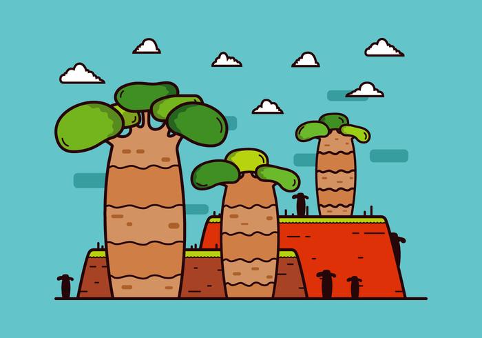 Gratis Baobab Boom Vector