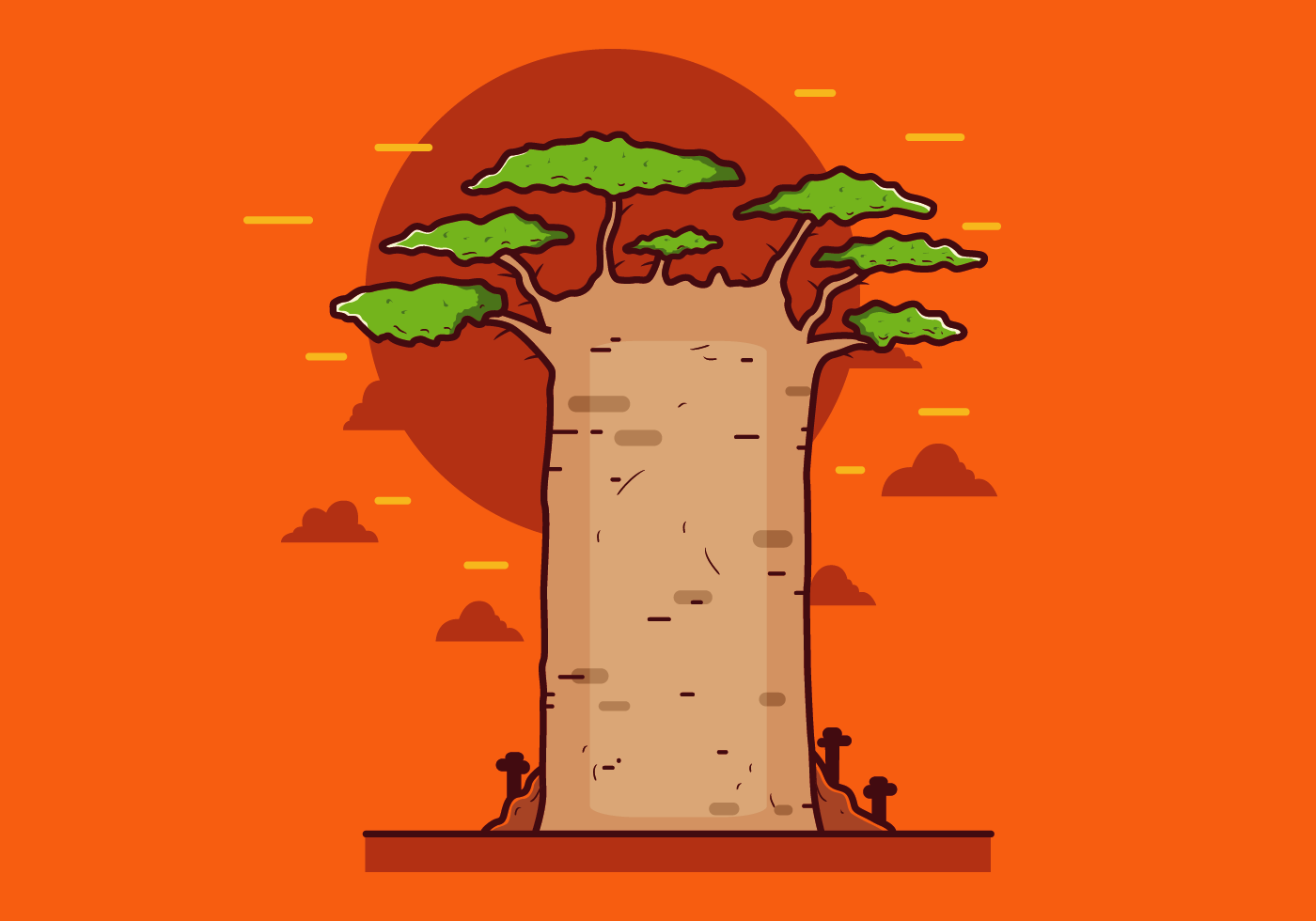 free baobab vector download free vector art stock