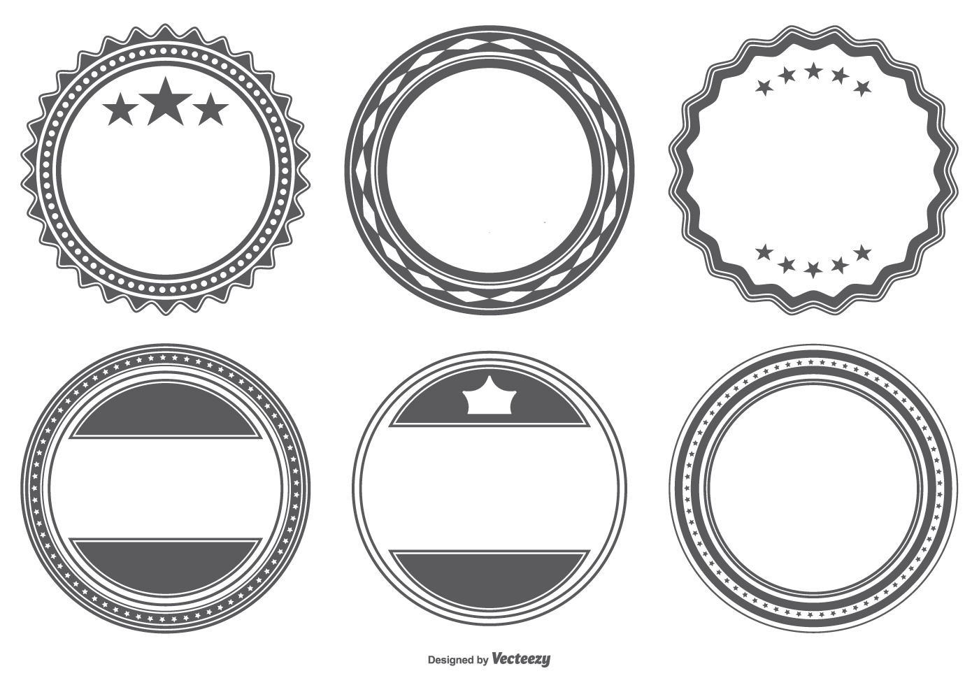 blank vector badge shapes