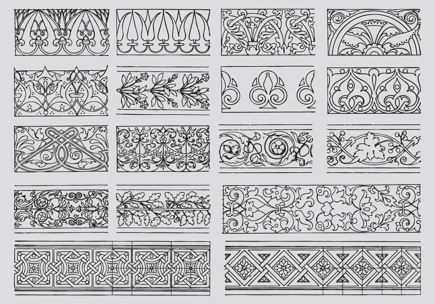Fronteras ornamentales - Descargue Gráficos y Vectores Gratis