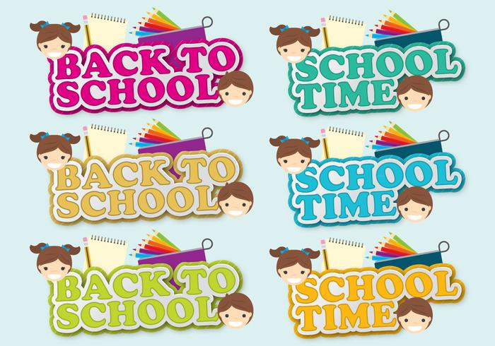 Back to School Shadow Titles