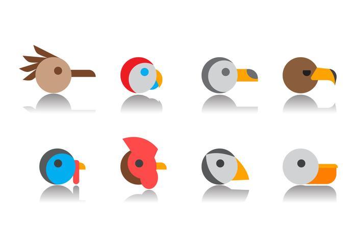 Gratis Bird Head Icon Vector