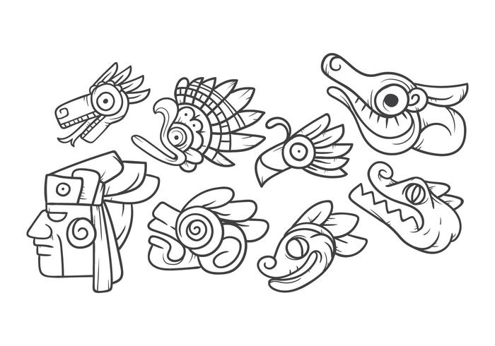 Free Mayan Animal Symbol Vector Download Free Vector Art Stock
