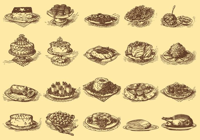 Vintage Delicious Dishes