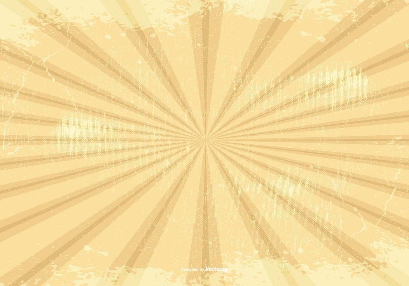 Retro Grunge Sunburst Background