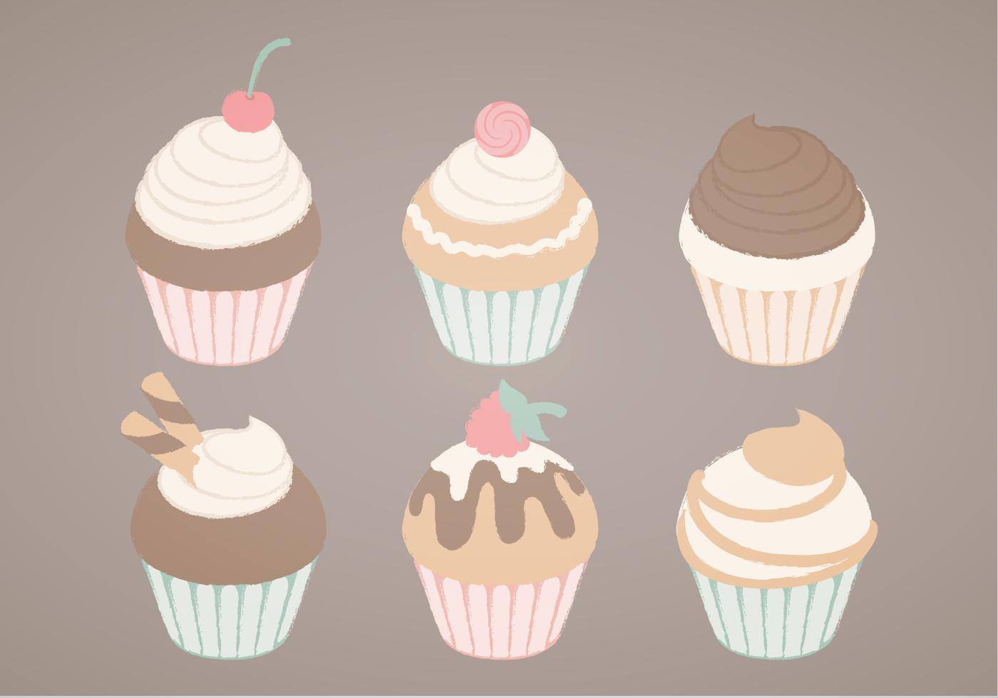 Vector Cupcakes Illustration Download Free Vector Art