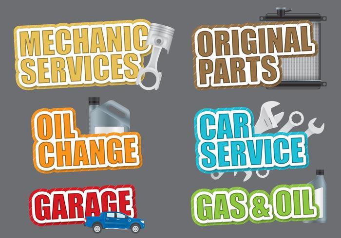Car Service Titles vector