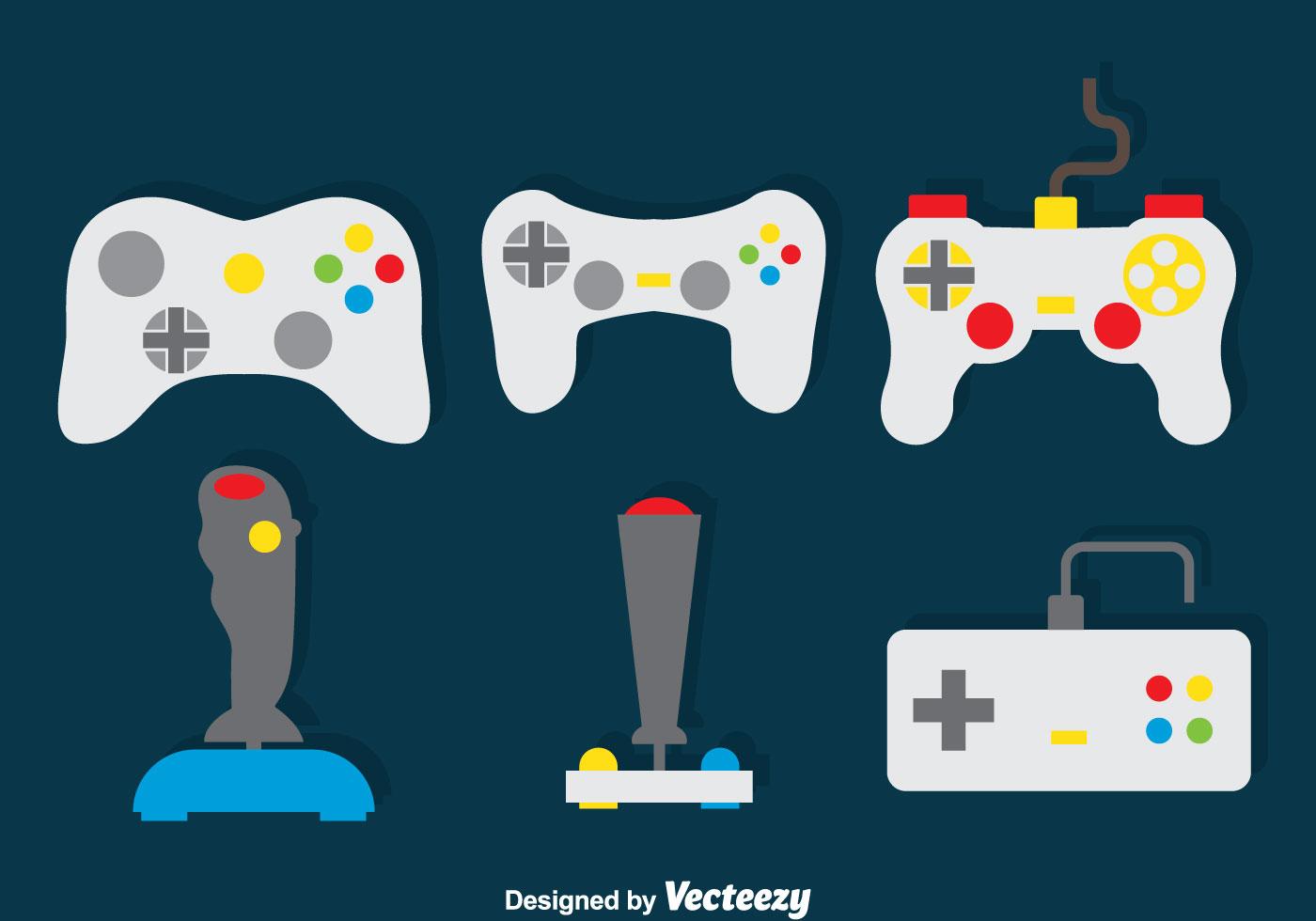 Game Controller Vector Set - Download Free Vector Art ...