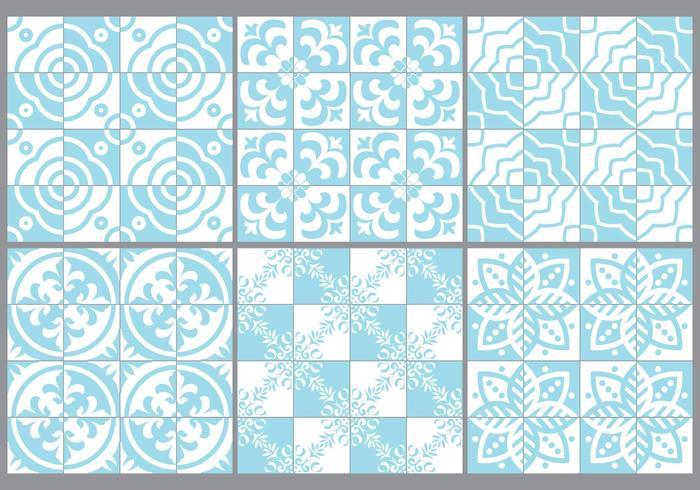Blå portugisiska plattor