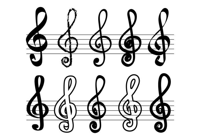 Violin nyckel vektor