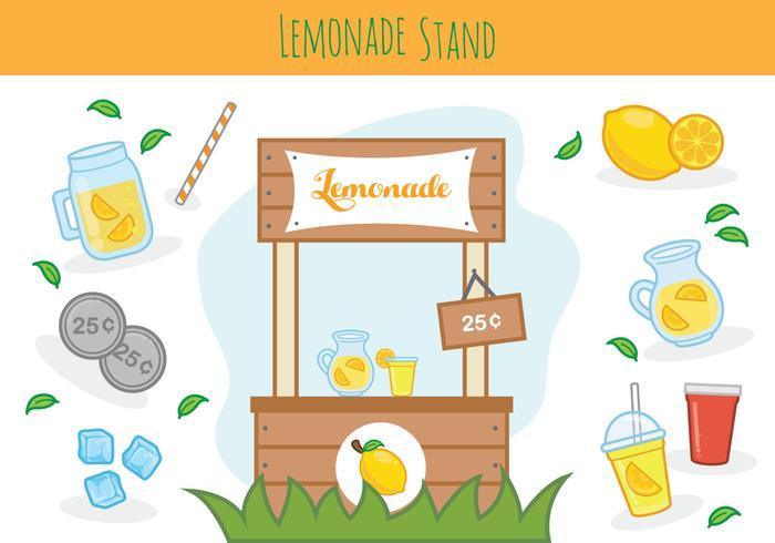 Free Lemonade Stand Vector