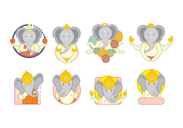 Ganesh Pictogrammen Vector