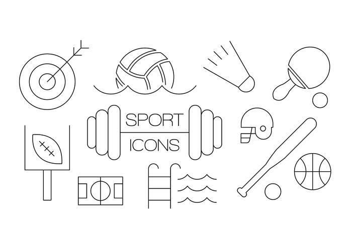 Iconos libres del deporte vector