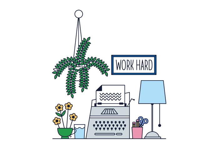 Free Working Desk Vektor