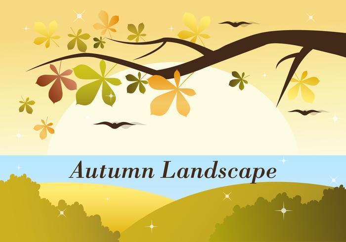 Free Autumn Vector Landscape