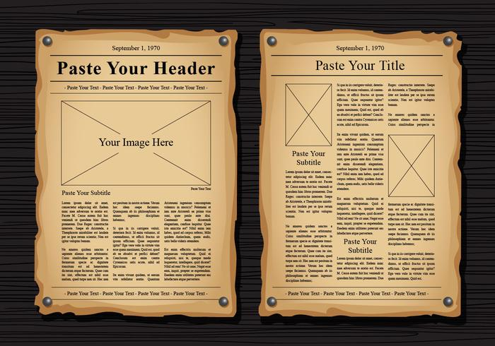 Old Newspaper Vector Templates - Download Free Vector Art, Stock