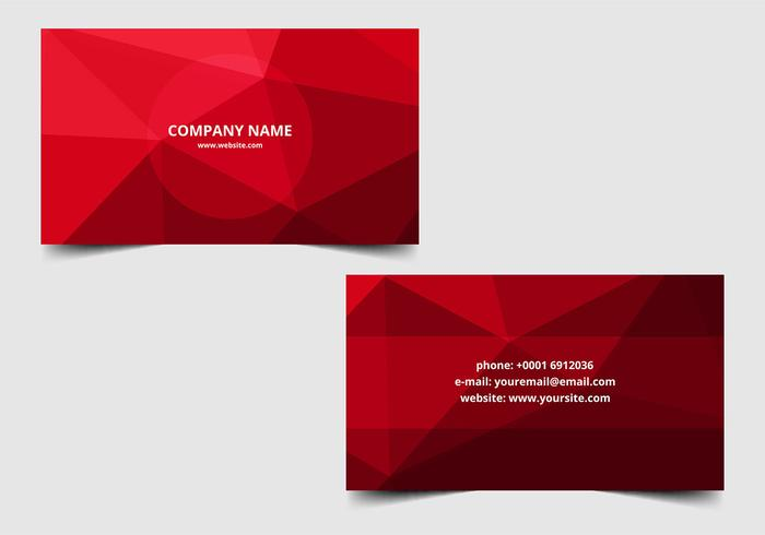 Free vector Polygon Business Card