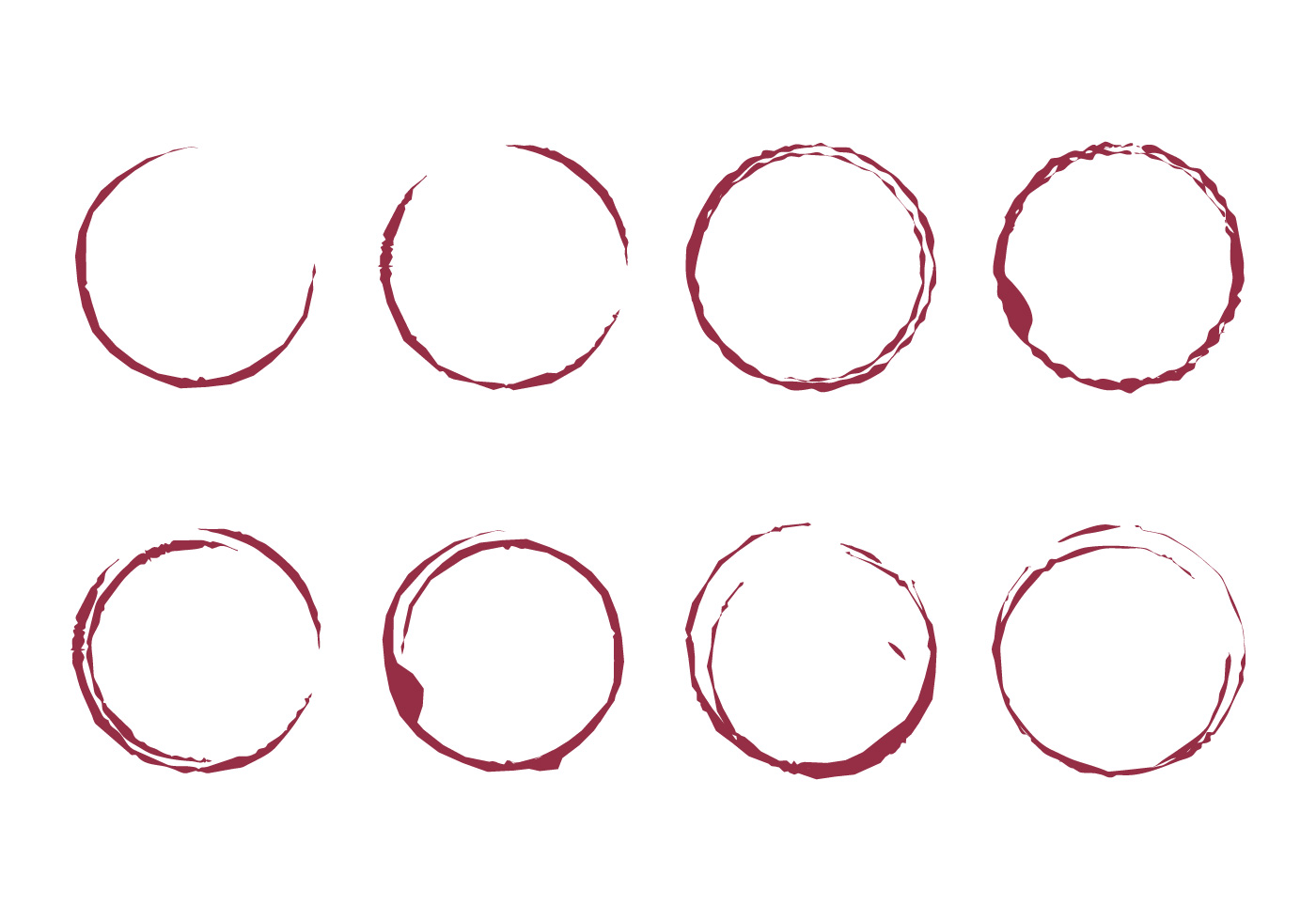 wine stain vector