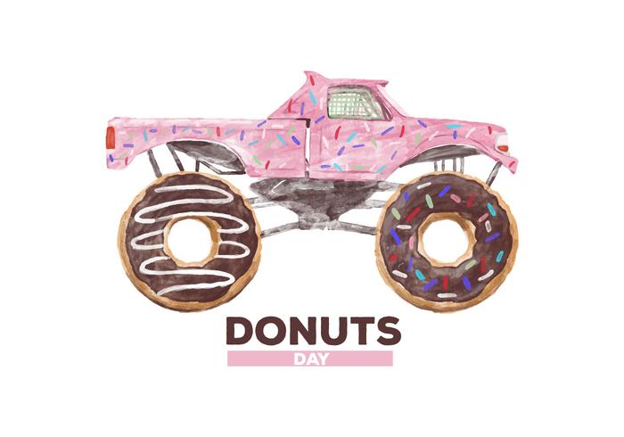 Free Donuts Watercolor Vector
