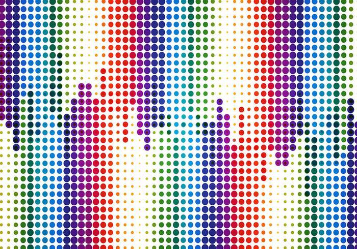 Vector libre de fondo de semitonos de colores
