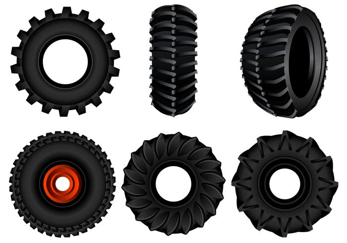 Vecteur de pneu tracteur gratuit