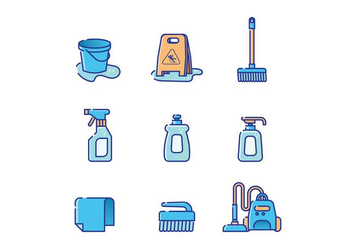 Free Cleaning Supplies Vector