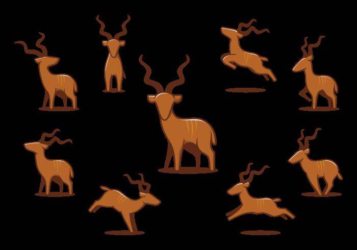 Ícones do Grande Kudu