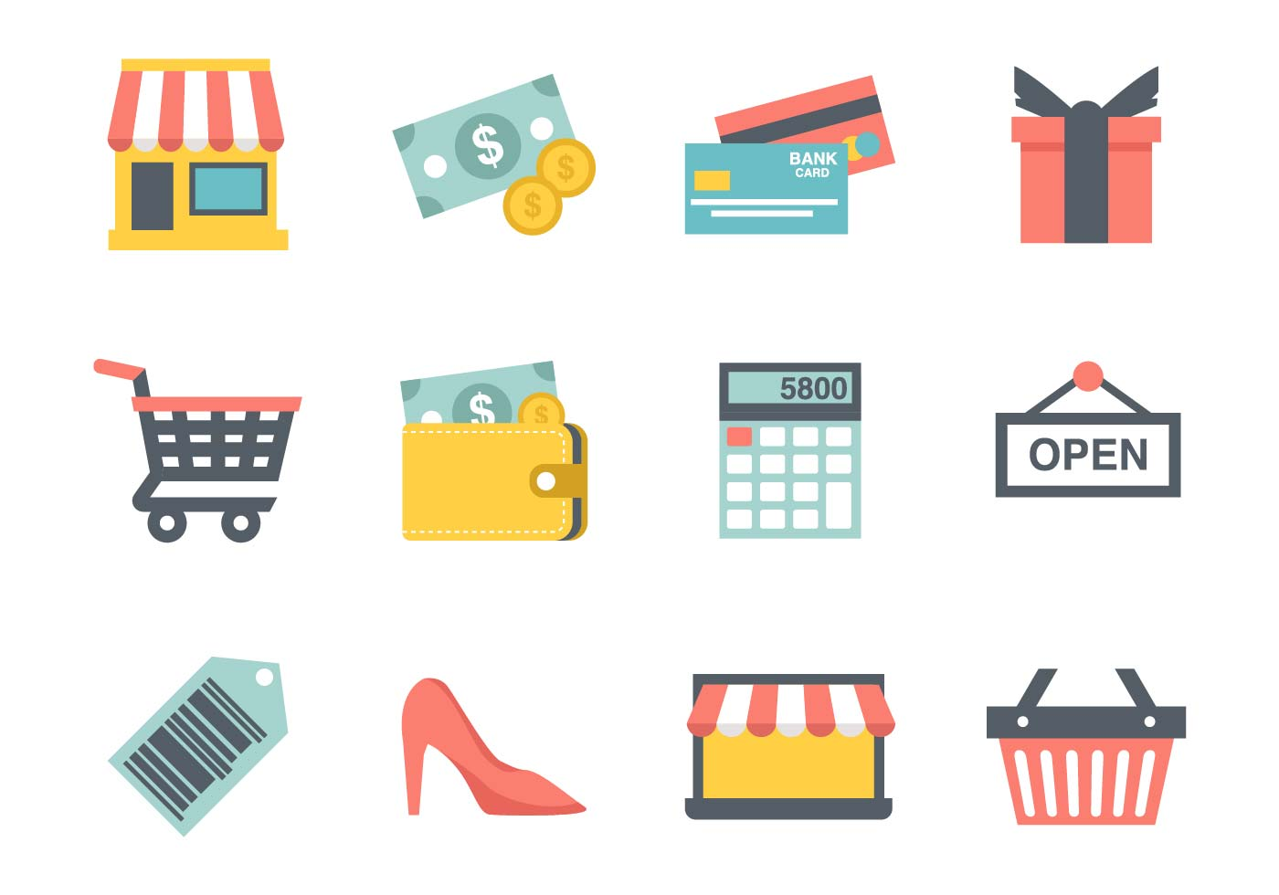 Free Shopping Icons Vector - Download Free Vector Art ...