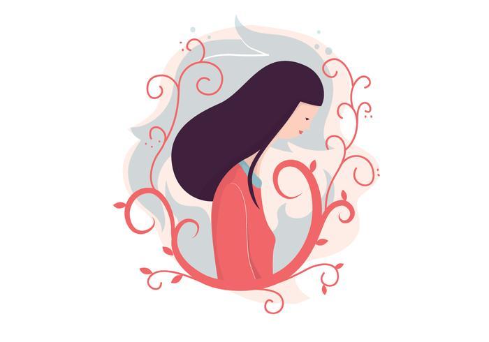 Mädchen Illustration Hintergrund