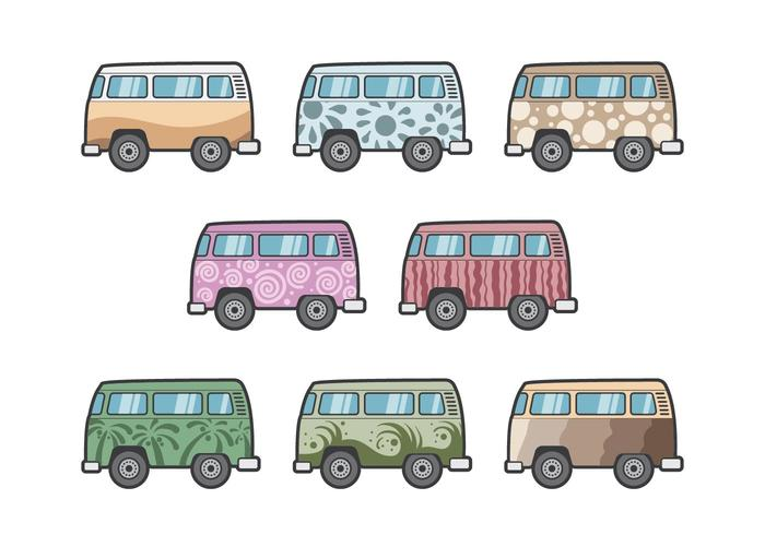 Free Hippie Bus Vectors