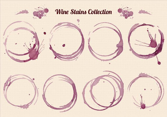 Free Vector Wine Stains Set