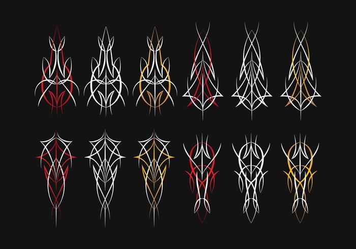 Pinstripe grafische hoek