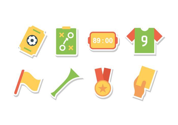 Set di icone di adesivo calcio gratis