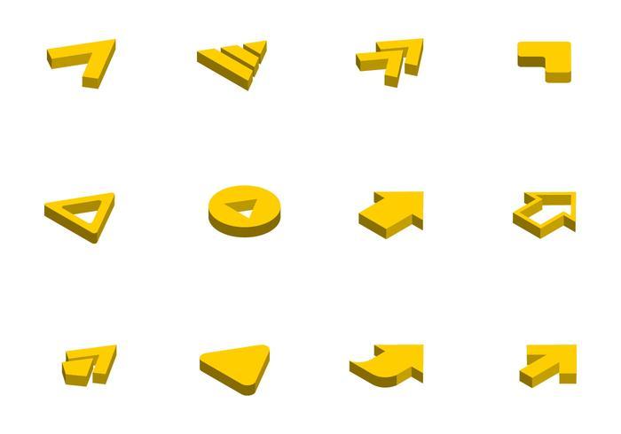 Icono de flecha isométrica libre Vector