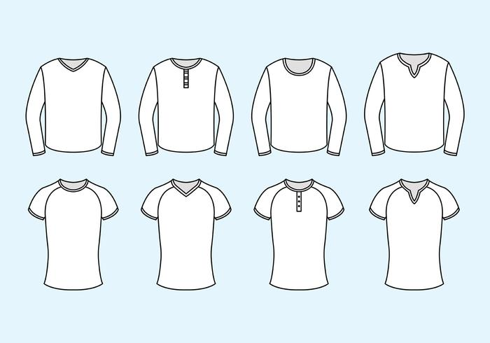 Set Raglan Vector