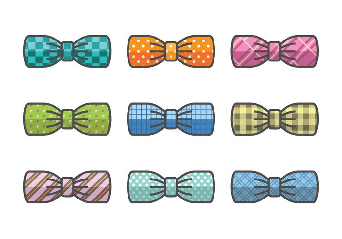 Bow vector icons