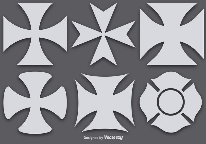 Vector Maltese Crosses