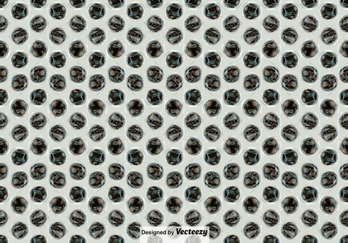 Bubble Wrap Seamless Pattern Vector Background