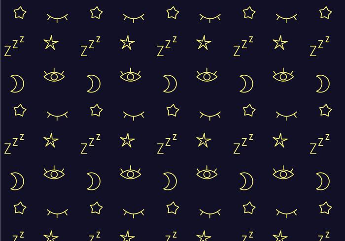 Free Sleep Pattern Vector