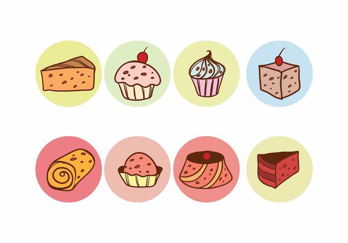 Raisins Cake Vector Set