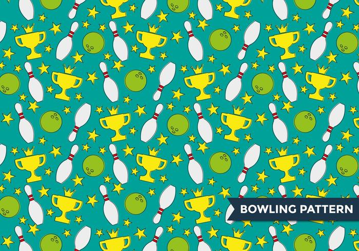 Bowling Alley Pattern Vector