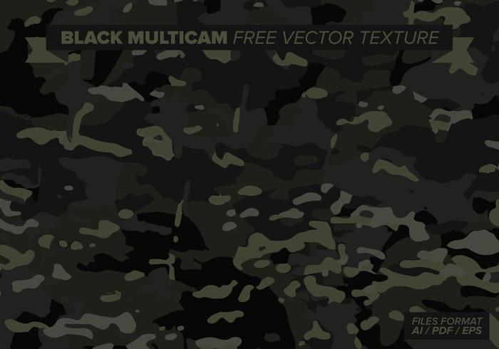 Black Multicam Free Vector Texture