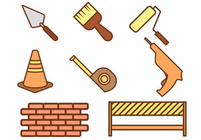 Bricklayer Icon Set