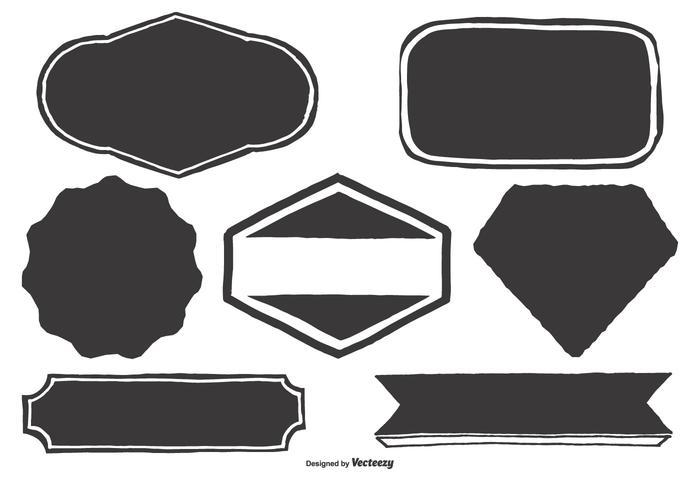 Blank Hand Drawn Labels