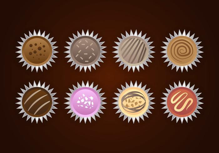 Vettore di cioccolatini al tartufo