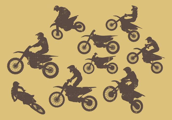 Dirt Bikes Silueta